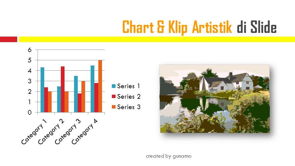 Chart & Klip Artistik di Slide