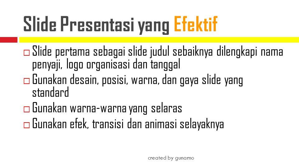 Slide Presentasi yang Efektif