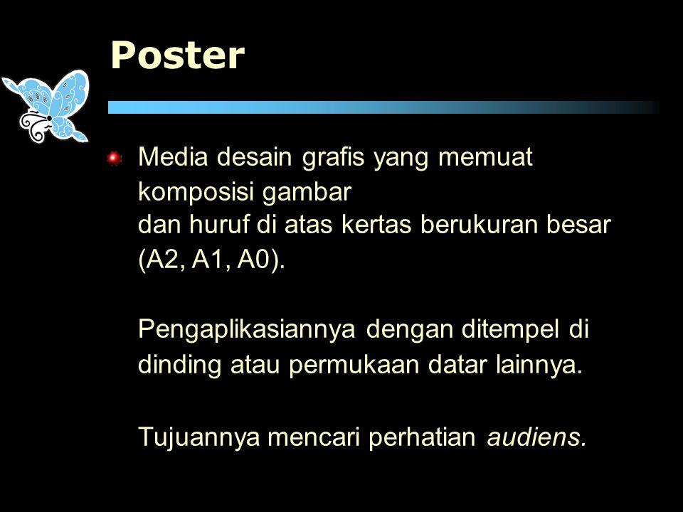 Poster Media desain grafis yang memuat komposisi gambar
