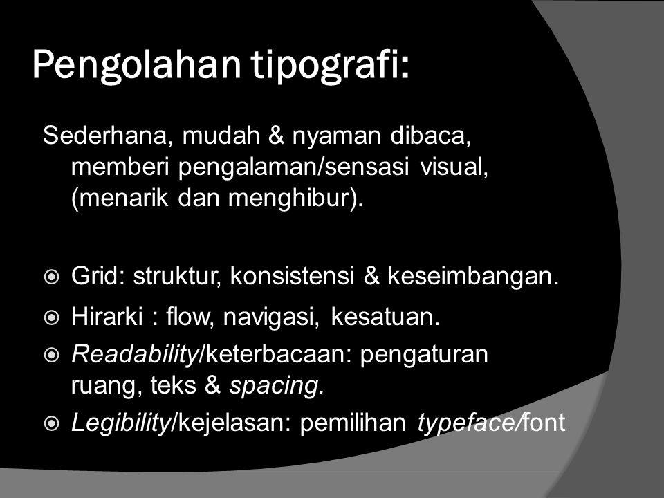 Pengolahan tipografi: