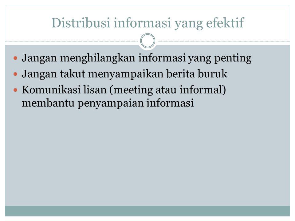 Distribusi informasi yang efektif