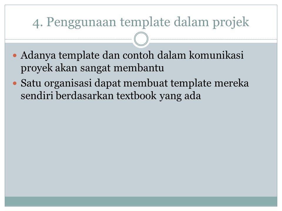 4. Penggunaan template dalam projek