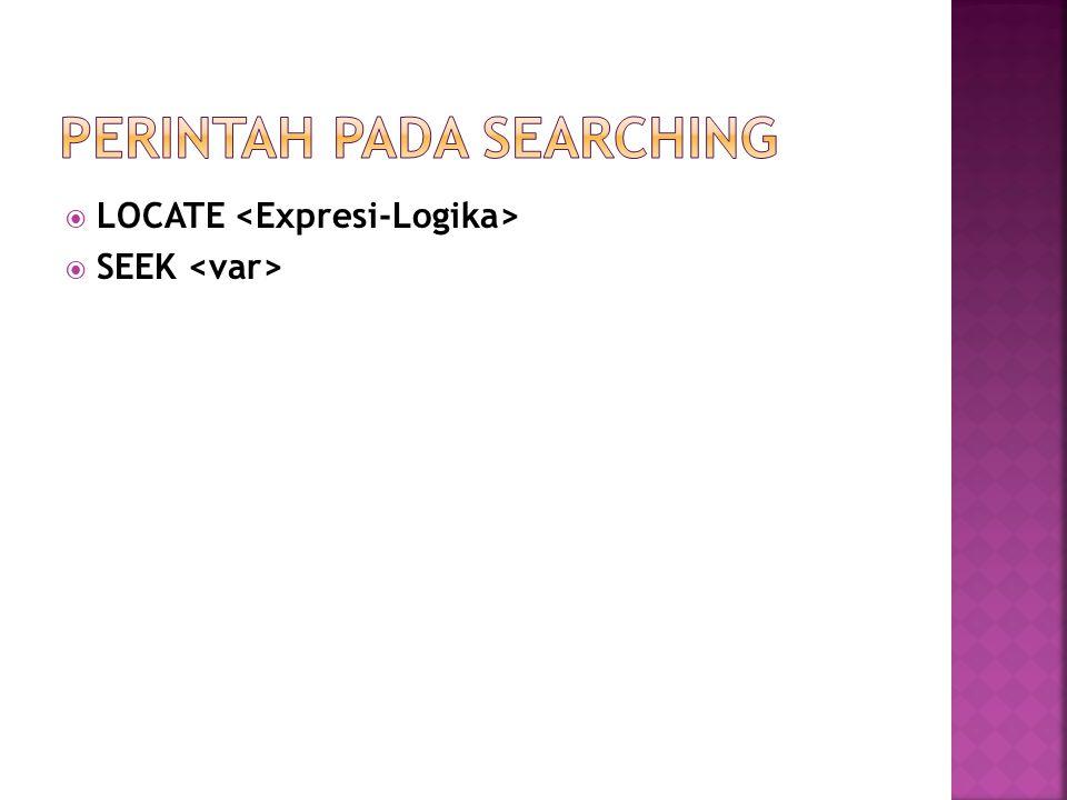 PERINTAH PADA SEARCHING