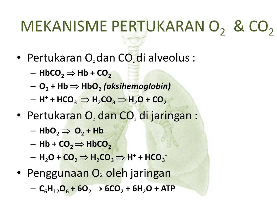 MEKANISME PERTUKARAN O2 & CO2