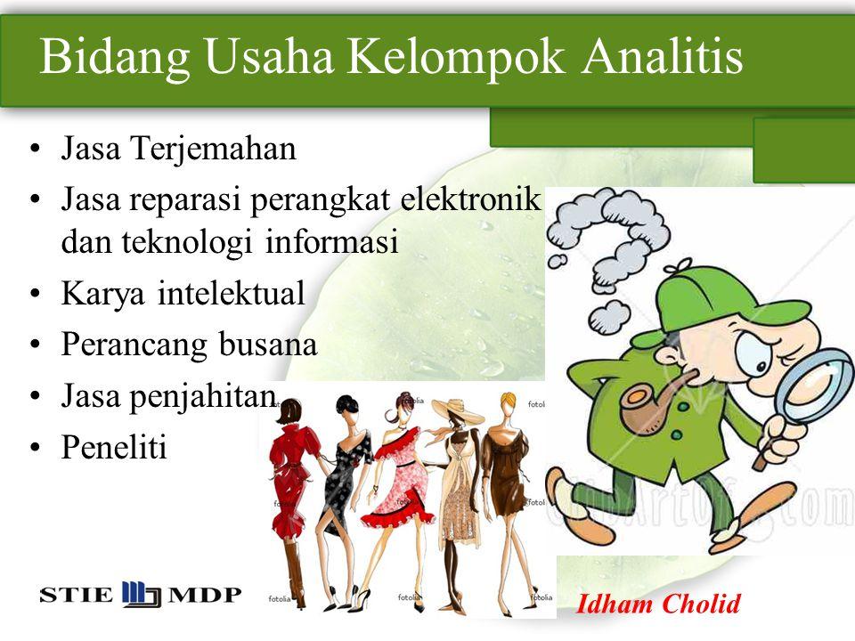Bidang Usaha Kelompok Analitis
