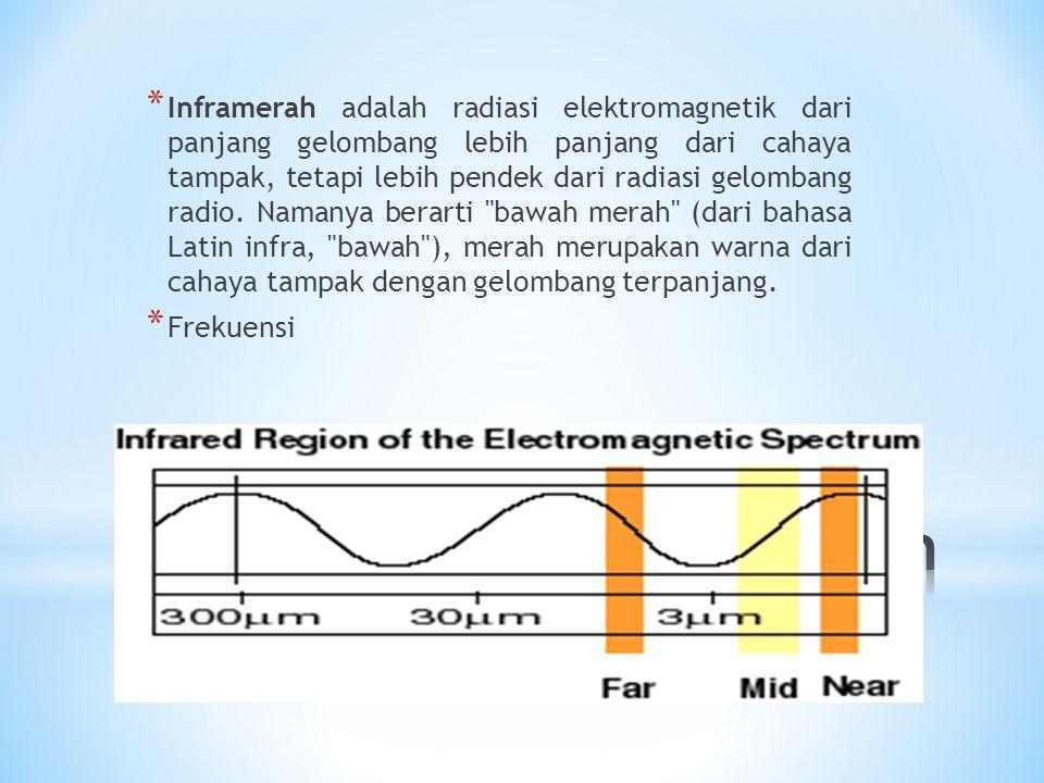 Inframerah adalah radiasi elektromagnetik dari panjang gelombang lebih panjang dari cahaya tampak, tetapi lebih pendek dari radiasi gelombang radio. Namanya berarti bawah merah (dari bahasa Latin infra, bawah ), merah merupakan warna dari cahaya tampak dengan gelombang terpanjang.