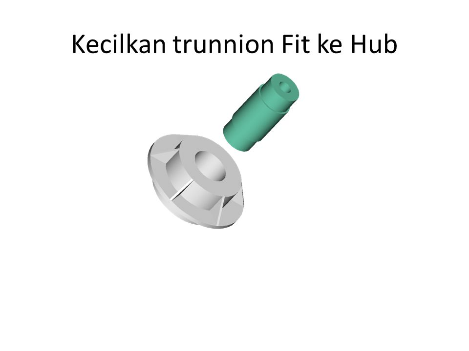Kecilkan trunnion Fit ke Hub