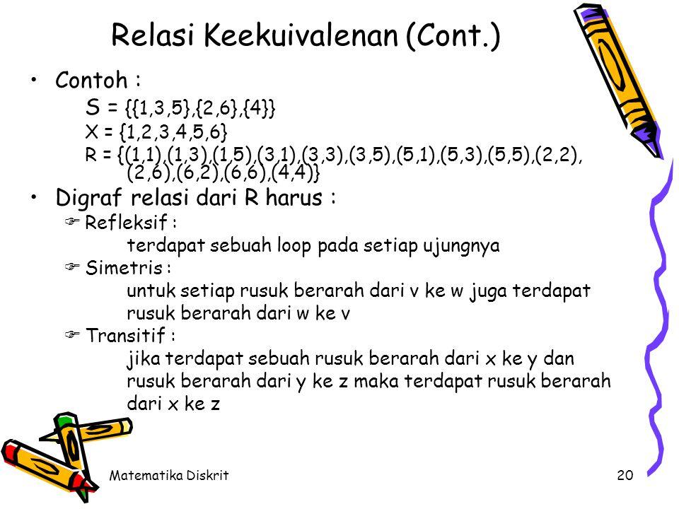 Relasi Keekuivalenan (Cont.)