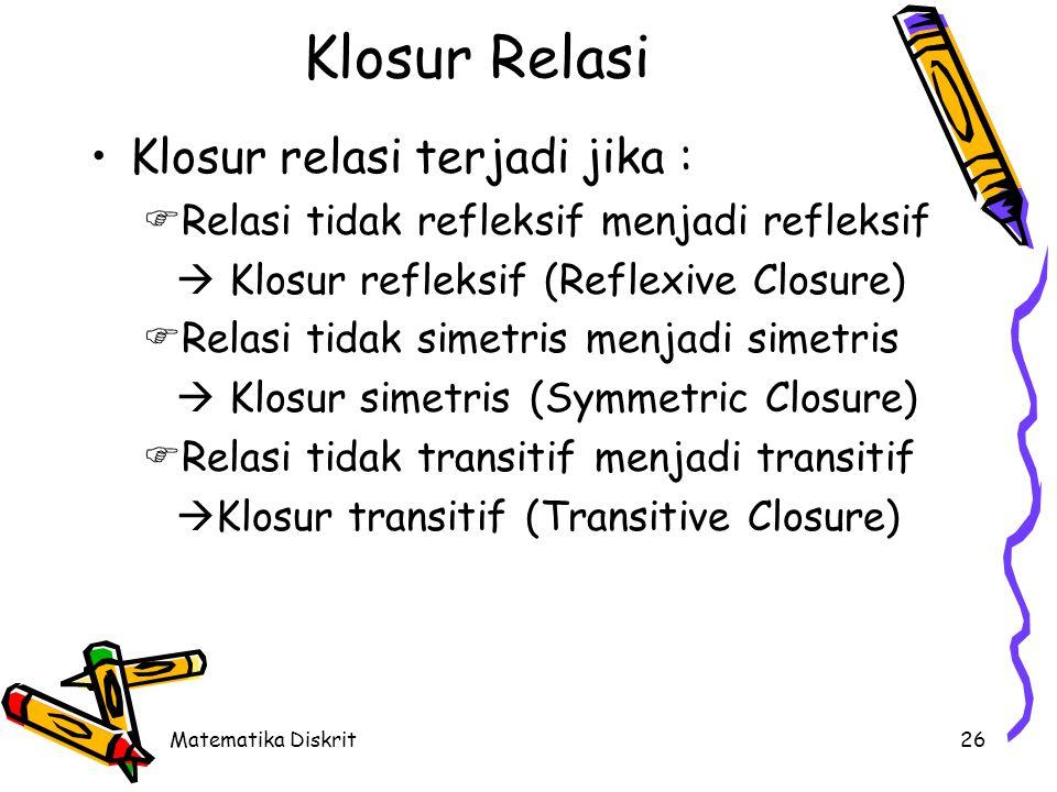 Klosur refleksif (Reflexive Closure)