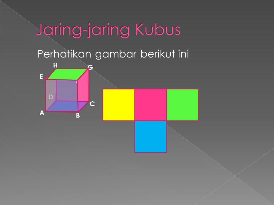 Jaring-jaring Kubus Perhatikan gambar berikut ini H G E F D C A B