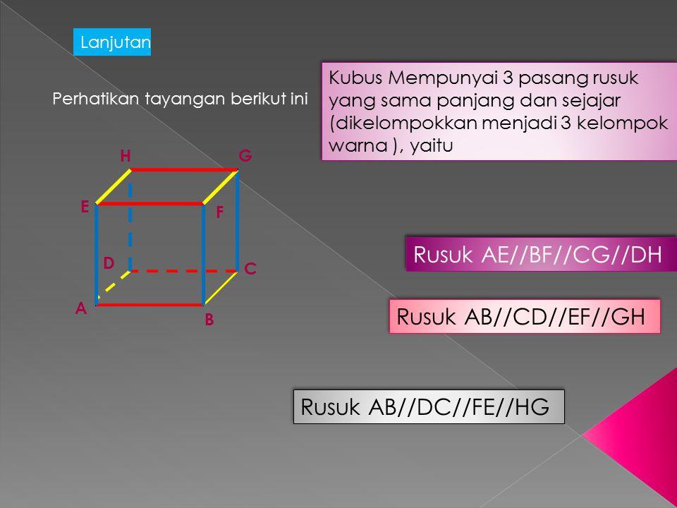 Rusuk AE//BF//CG//DH Rusuk AB//CD//EF//GH Rusuk AB//DC//FE//HG