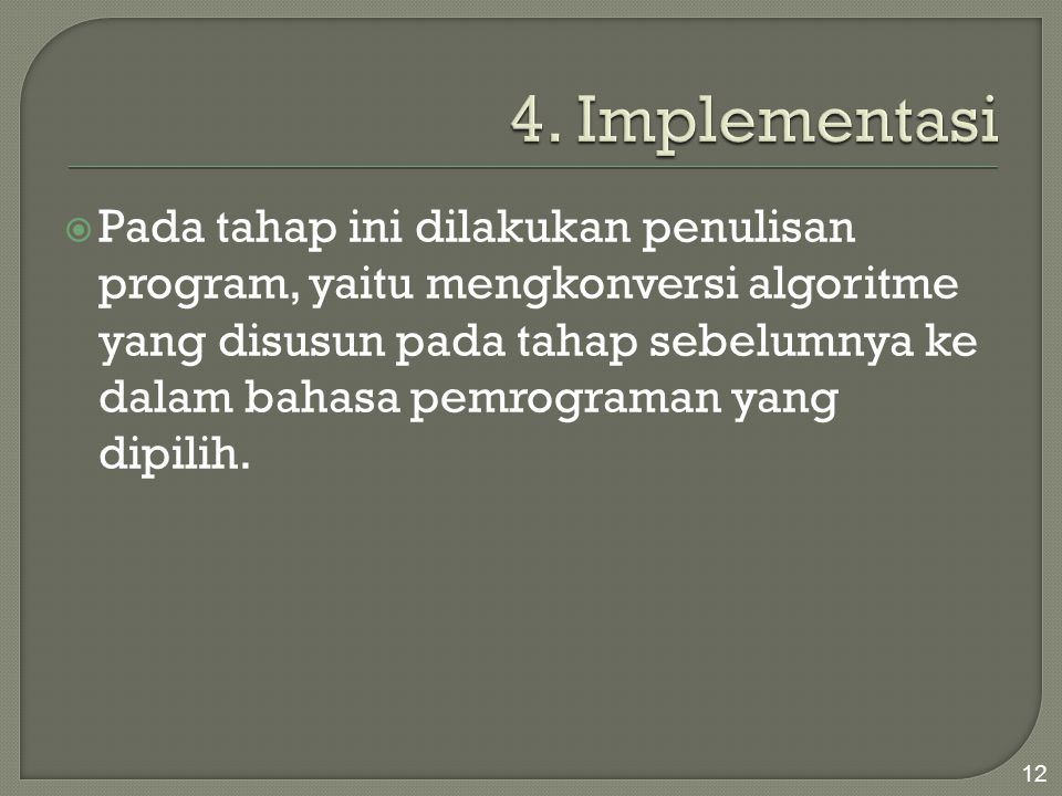 4. Implementasi