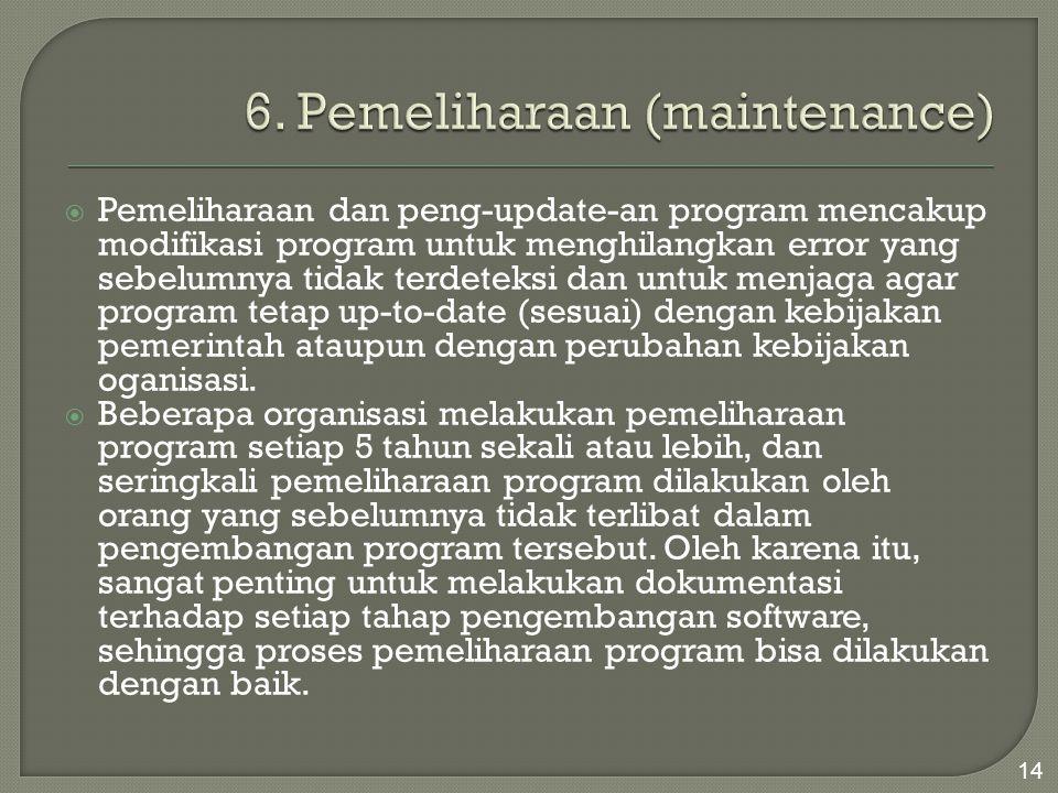 6. Pemeliharaan (maintenance)