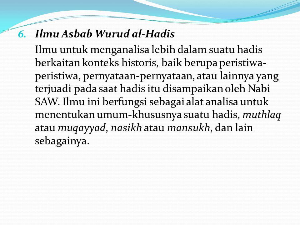 Ilmu Asbab Wurud al-Hadis