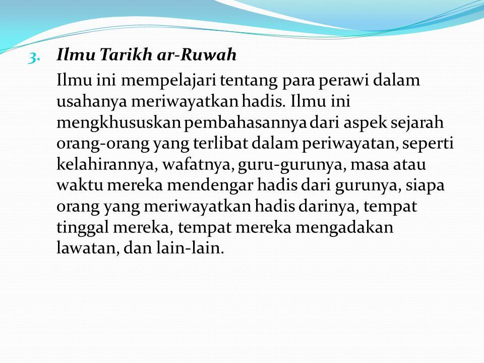 Ilmu Tarikh ar-Ruwah