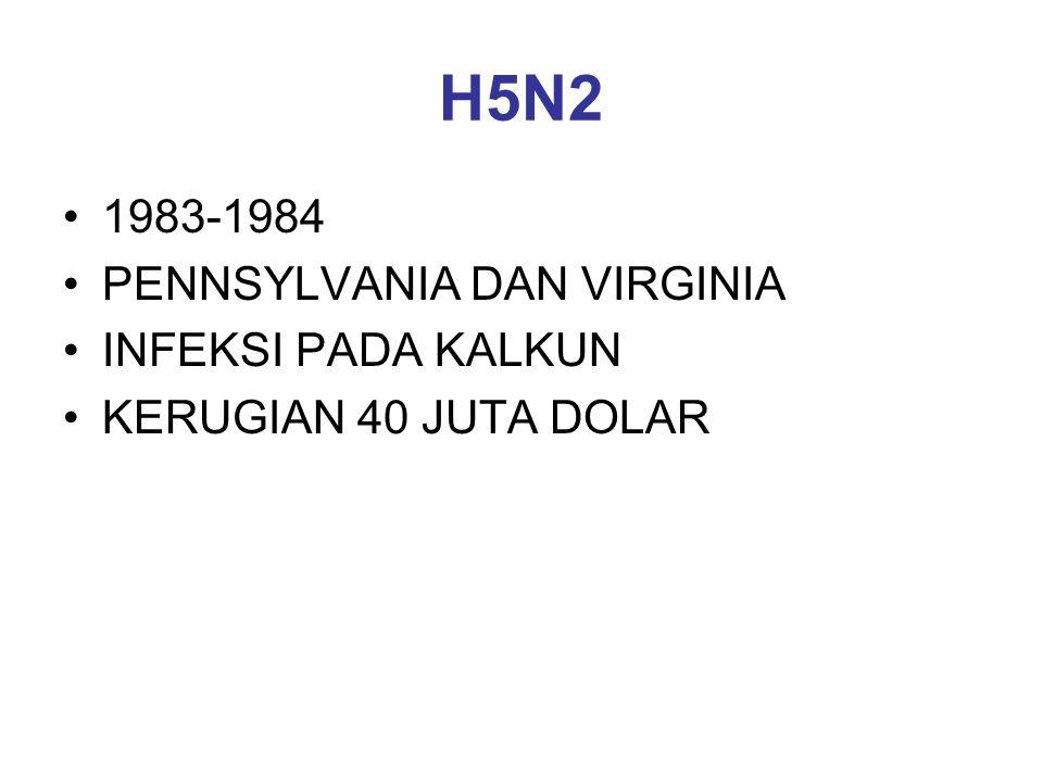 H5N2 1983-1984 PENNSYLVANIA DAN VIRGINIA INFEKSI PADA KALKUN