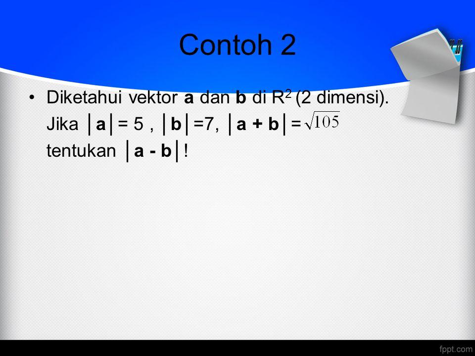 Contoh 2 Diketahui vektor a dan b di R2 (2 dimensi).