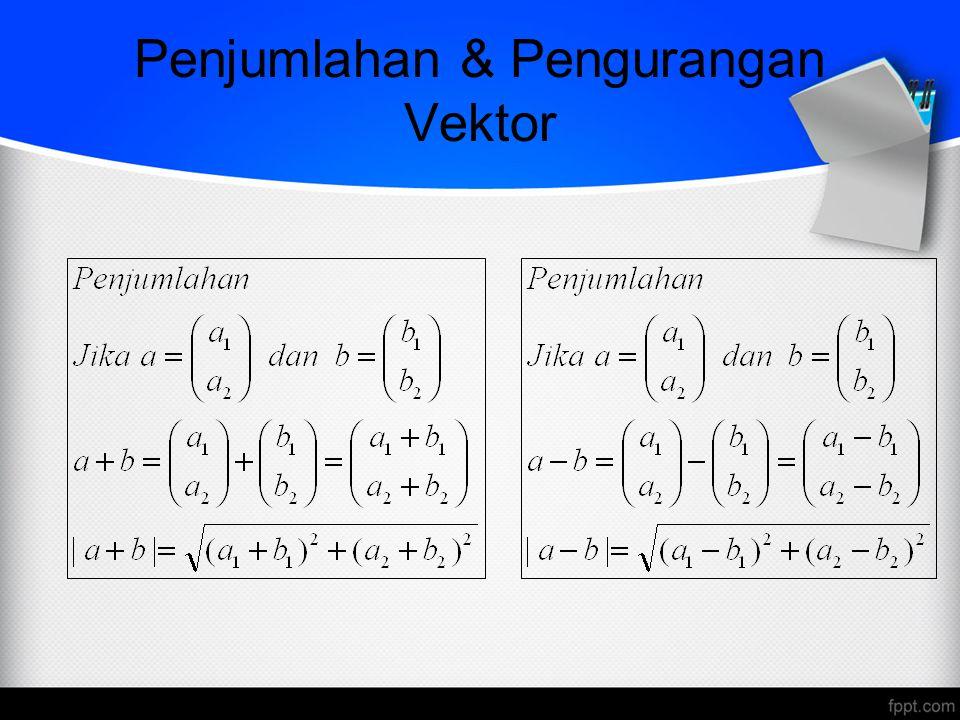 Penjumlahan & Pengurangan Vektor