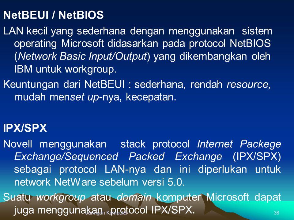 NetBEUI / NetBIOS IPX/SPX