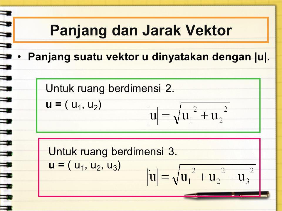 Panjang dan Jarak Vektor