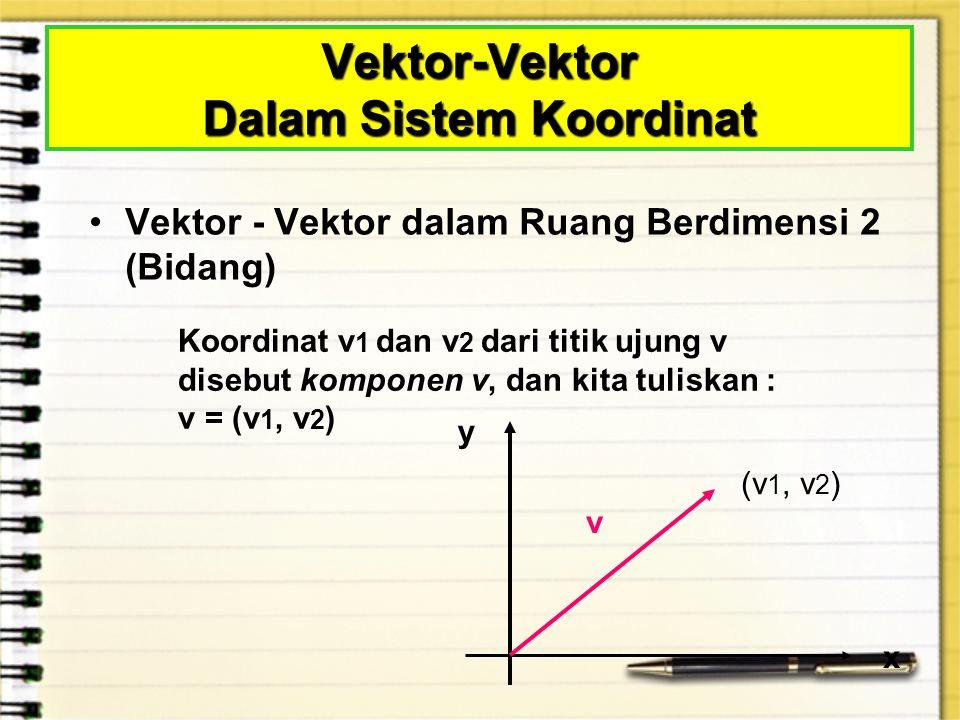 Vektor-Vektor Dalam Sistem Koordinat
