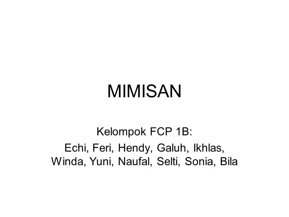 MIMISAN Kelompok FCP 1B: