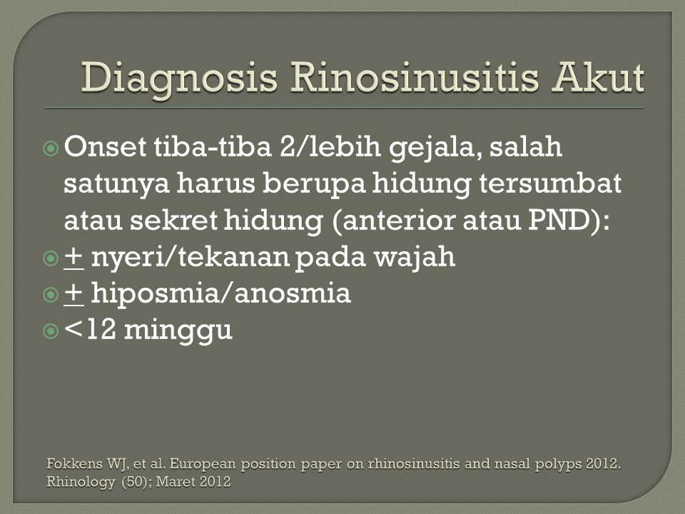 Diagnosis Rinosinusitis Akut