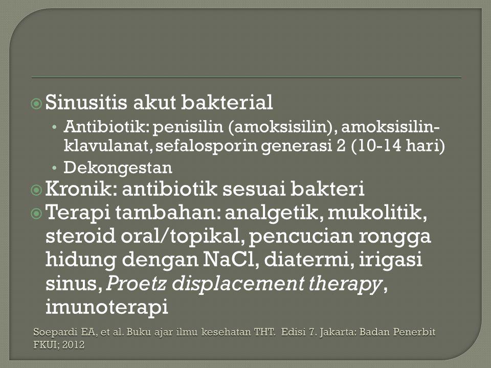 Sinusitis akut bakterial