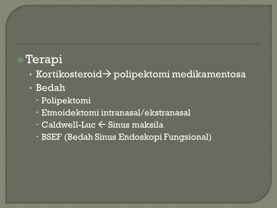 Terapi Kortikosteroid polipektomi medikamentosa Bedah Polipektomi