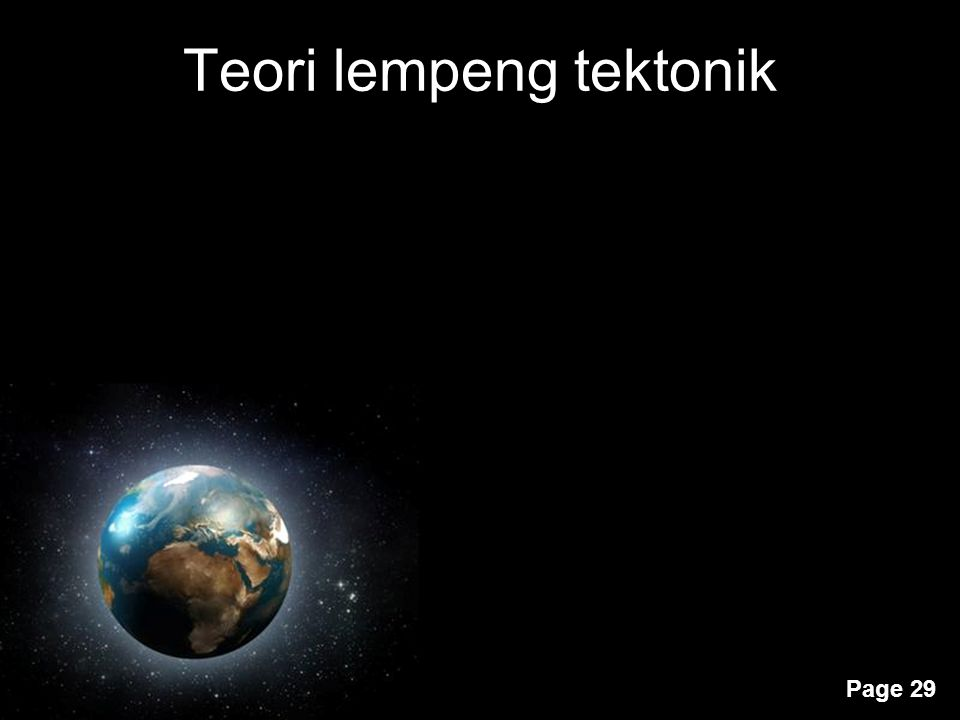 Teori lempeng tektonik