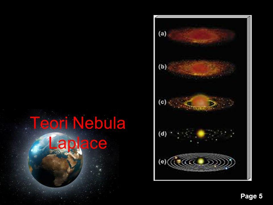 Teori Nebula Laplace