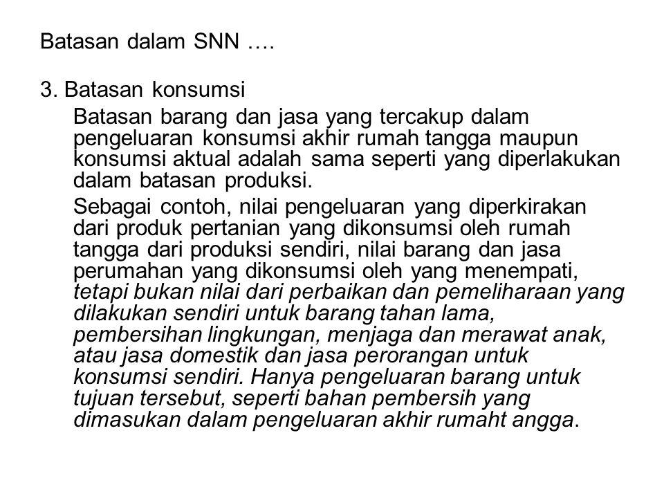 Batasan dalam SNN …. 3. Batasan konsumsi.