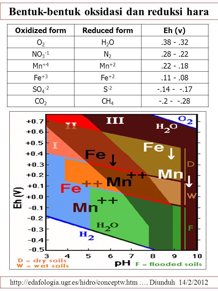 Bentuk-bentuk oksidasi dan reduksi hara