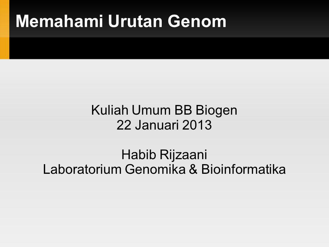 Laboratorium Genomika & Bioinformatika