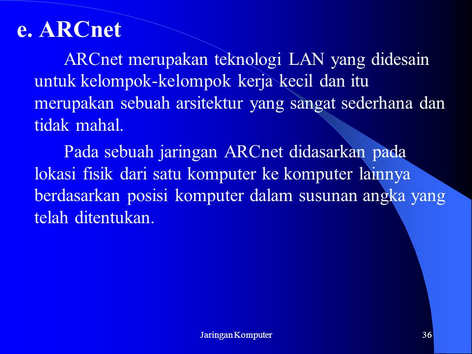 e. ARCnet