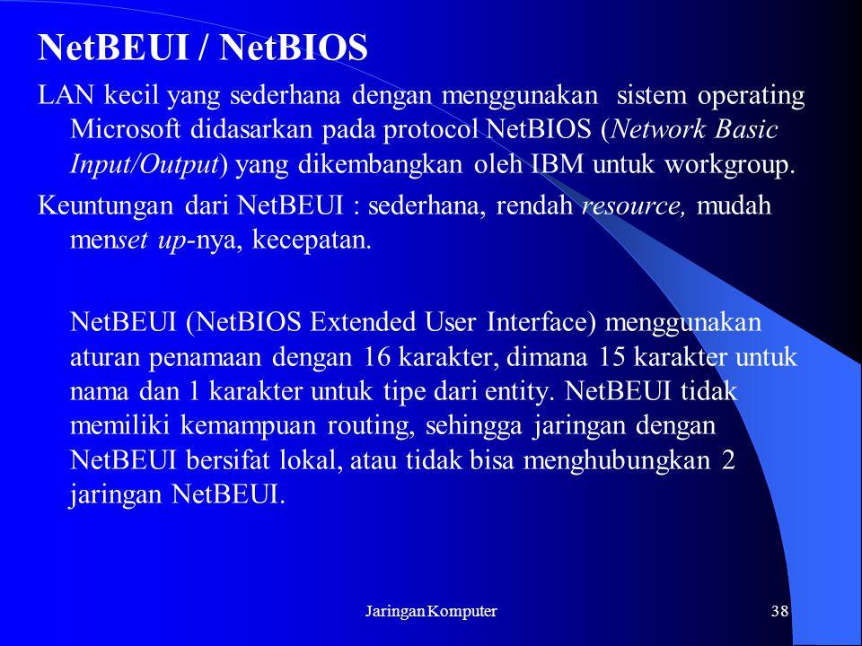 NetBEUI / NetBIOS