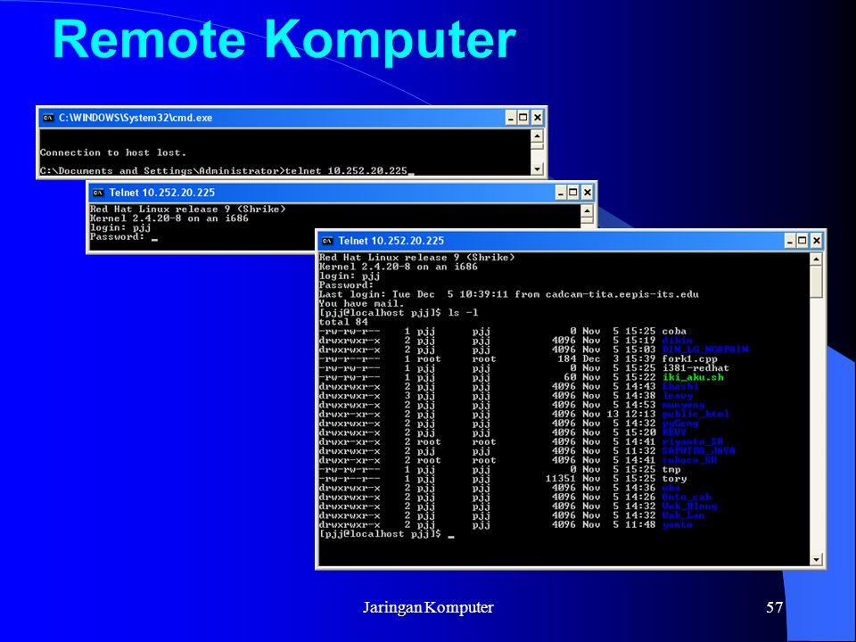Remote Komputer Jaringan Komputer