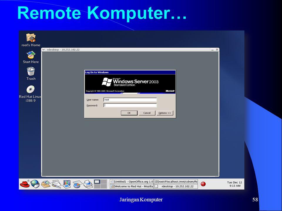 Remote Komputer… Jaringan Komputer