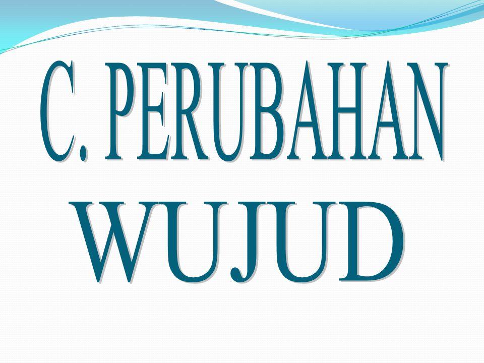 C. PERUBAHAN WUJUD