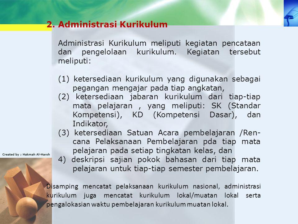 2. Administrasi Kurikulum