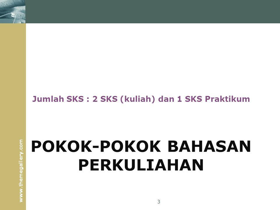 POKOK-POKOK BAHASAN PERKULIAHAN