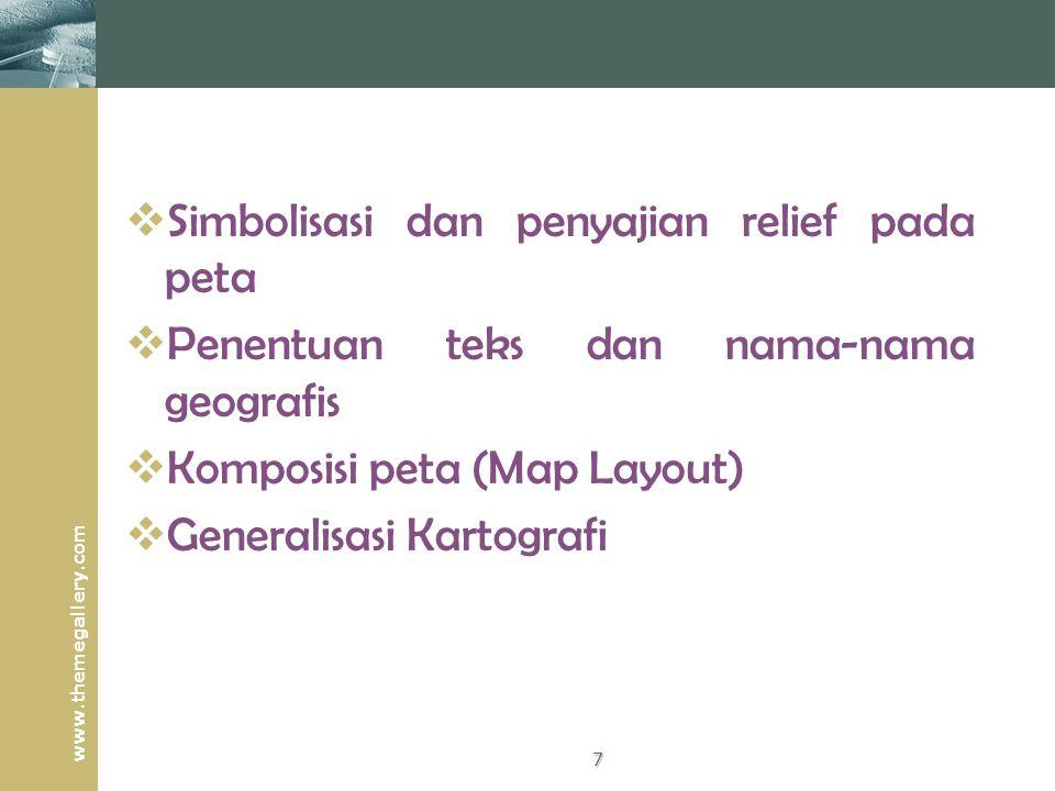 Simbolisasi dan penyajian relief pada peta