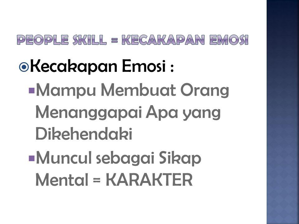 People Skill = Kecakapan Emosi