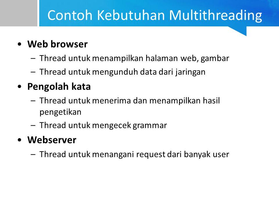 Contoh Kebutuhan Multithreading