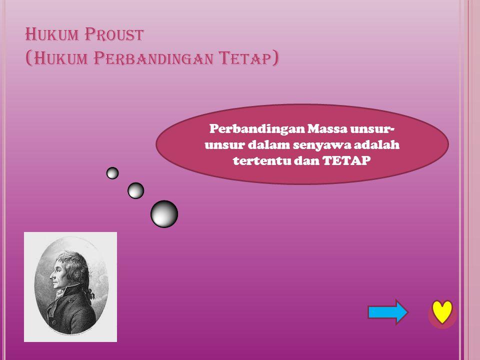 Hukum Proust (Hukum Perbandingan Tetap)