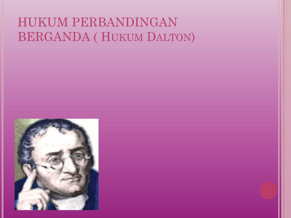 HUKUM PERBANDINGAN BERGANDA ( Hukum Dalton)