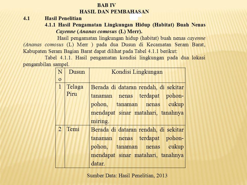 No Dusun Kondisi Lingkungan 1 Telaga Piru