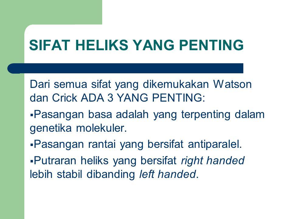 SIFAT HELIKS YANG PENTING