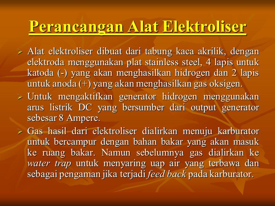Perancangan Alat Elektroliser