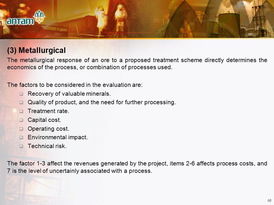 (3) Metallurgical